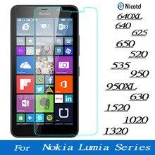 מסך מזג זכוכית עבור Microsoft Lumia Nokia 640 640XL 950 950XL 650 520 535 630 1520 1020 1320 625 פרימיום מגן סרט