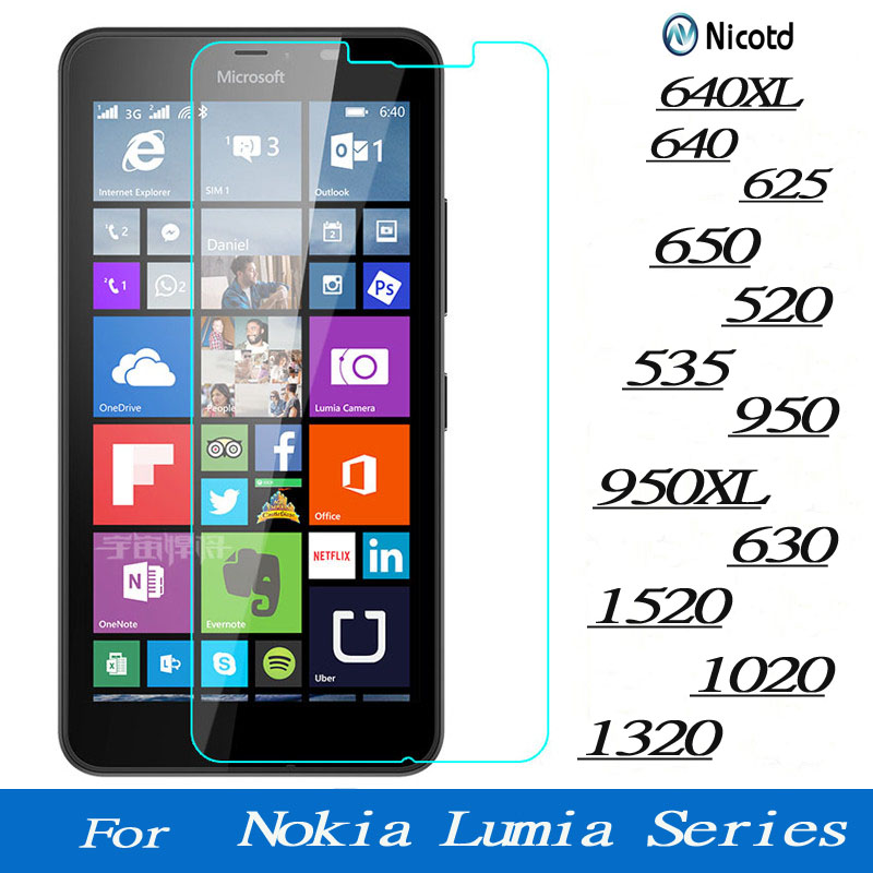 Screen Tempered Glass For Microsoft Lumia Nokia 640 640XL 950 950XL 650 520 535 630 1520 1020 1320 625  Premium Protector Film