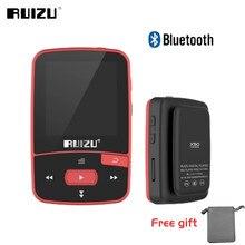 Ruizu X50 Sport Mini Bluetooth odtwarzacz Mp3 muzyka Audio Mp 3 Mp-3 z radiem cyfrowy ekran Hifi Hi-Fi Fm Flac Usb 8Gb bezstratny
