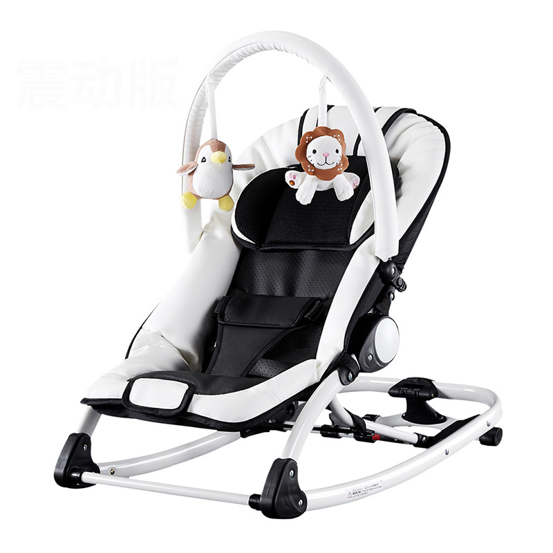 Soft Leather Multifunctional Baby Rocking Chair Baby Chair Jumpers Chair Baby the silver chair