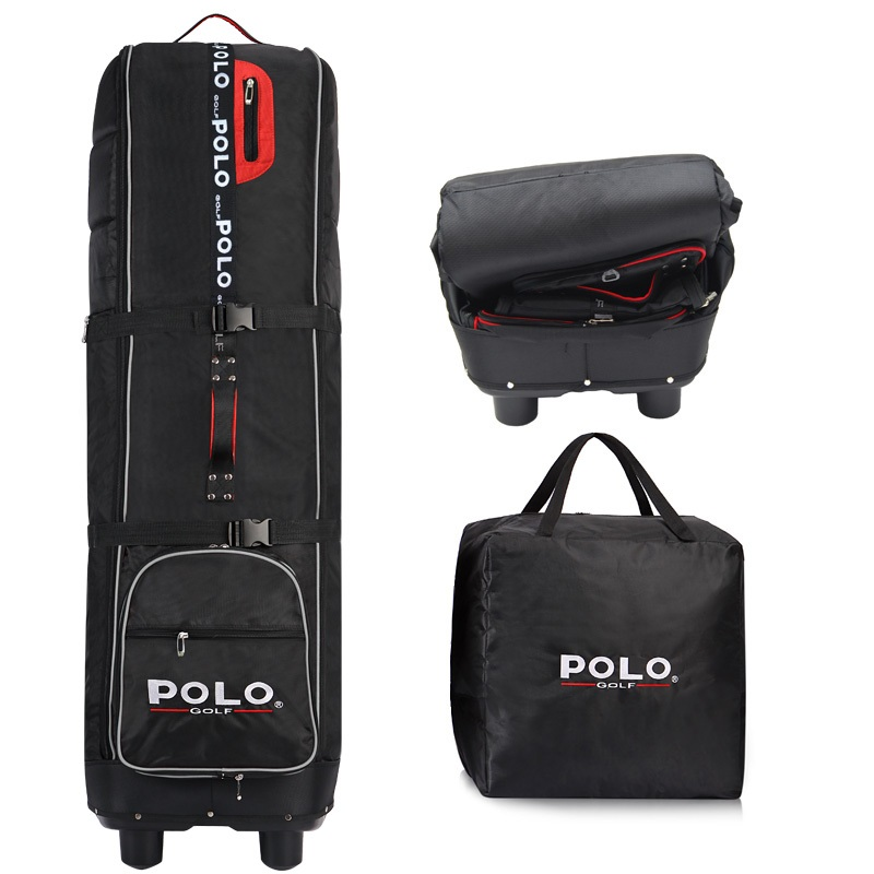 Polo Genuine Golf Air Bag Golf Aviation Package Folding Thickening Outsourcing Plane Bag with Pulley Golf Travel Consignment Bag simulation mini golf course display toy set with golf club ball flag