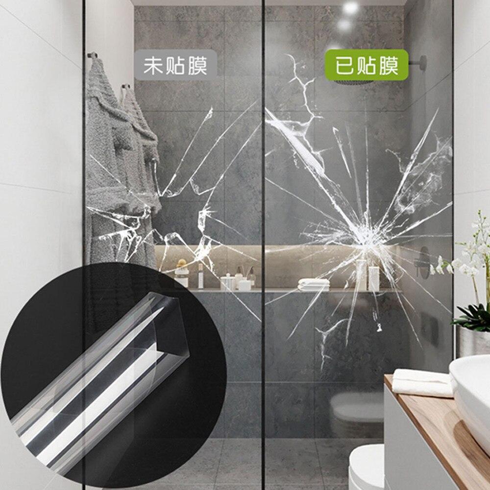 Film de fenêtre de sécurité auto-adhésif brillant 4mil, autocollant de verre de vinyle de teinte de fenêtre de sécurité, feuille de fenêtre de bureau de salle de bains 1.52 m x 6 m