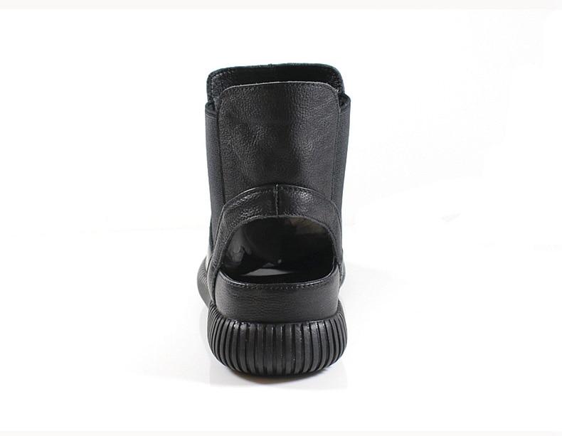 Cómodas Boca Mesh Nuevo beige Pescados Genuino Mujer Verano black Sandalias Gladiador De Los Black Cuero Suaves Malla Zapatos XOwSpOx