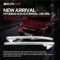 Envío Libre IPHCAR Especial Externa Impermeable Blanca Luz Corriente Diurna del LED Amarillo Señal de Vuelta de Luz para Hyundai IX35