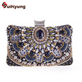 2016 New Vintage Women Wedding Party Bag Small Clutch Fashion Beading Chain Evening Bag Purse Diamond Day Clutch Bride Handbag