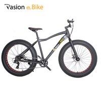 Pasion E Bike 7 Speed Fat Bike Frame Aluminum 26*4.0 Fat Tire Mountain Bike MTB Men Women Student Bicycle Cycling Bicicleta