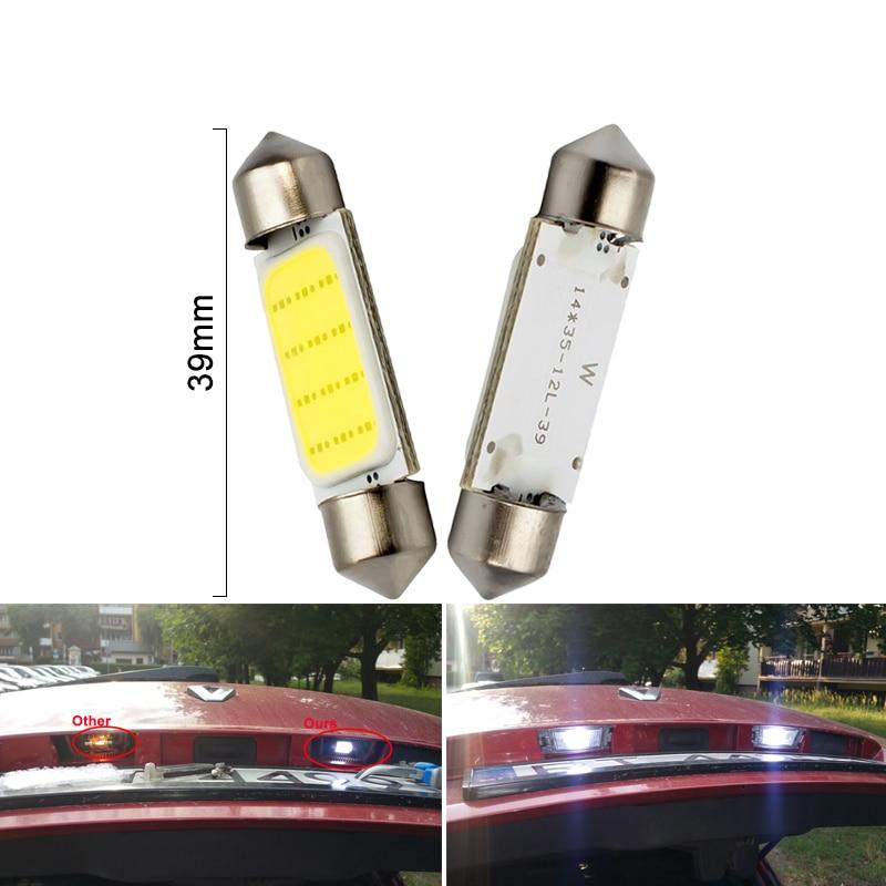 1x C10W C5W LED COB Festoon 31mm 36mm 39mm 41 42mm 12V White bulbs for cars 1x C10W C5W LED COB Festoon 31mm 36mm 39mm 41/42mm 12V White bulbs for cars License plate Interior Reading Light 6500K 12SMD