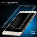 Высокое Качество 2.5D Горячая Изгиб Nano Мягкая Высокая Прочность Полный экран протектор Фильм Передняя Панель + Крышка пленка Для Samsung Galaxy S7 Edge