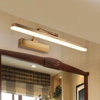 bathroom led mirror light Waterproof Retro Bronze Vanity Mirror Lights Led Wall Light Lamp Gold Mirror Wall sconces 90V 265V