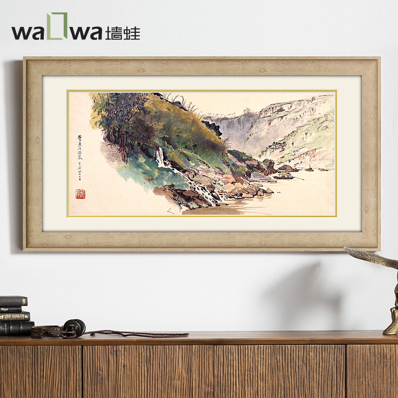 The wall of frog magnificent rivers and mountains of dazzle of modern Chinese painting study entrance office wall paintings livi