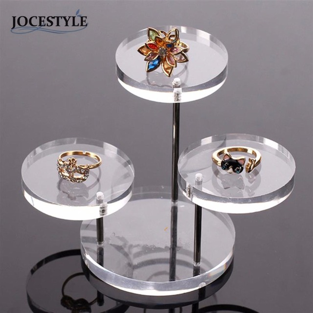 Acrylic Jewelry Watch Display Boxes Holder Rack Box Clear Acrylic Jewelry Organizer 3 Tray Stands for Earring Bracelet Necklace