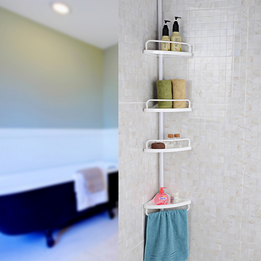 Compare prices on bath corner rack online shopping buy for Bathroom accessories plastic