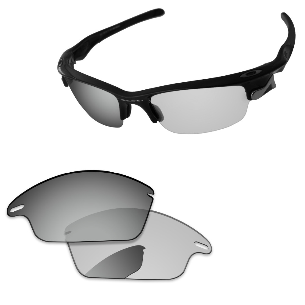 Transition Photochromic Polarized Replacement Lenses For Fast Jacket Sunglasses Frame 100% UVA & UVB Protection