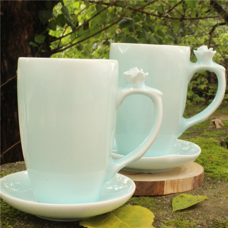 China White Ceramic Tea Cup Coffee Mug Zakka Beer Cups And