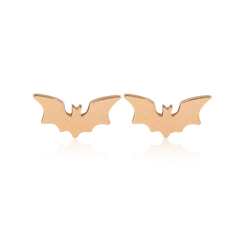 SMJEL New Fashion Hollow Bat Stud საყურეები - მოდის სამკაულები - ფოტო 3
