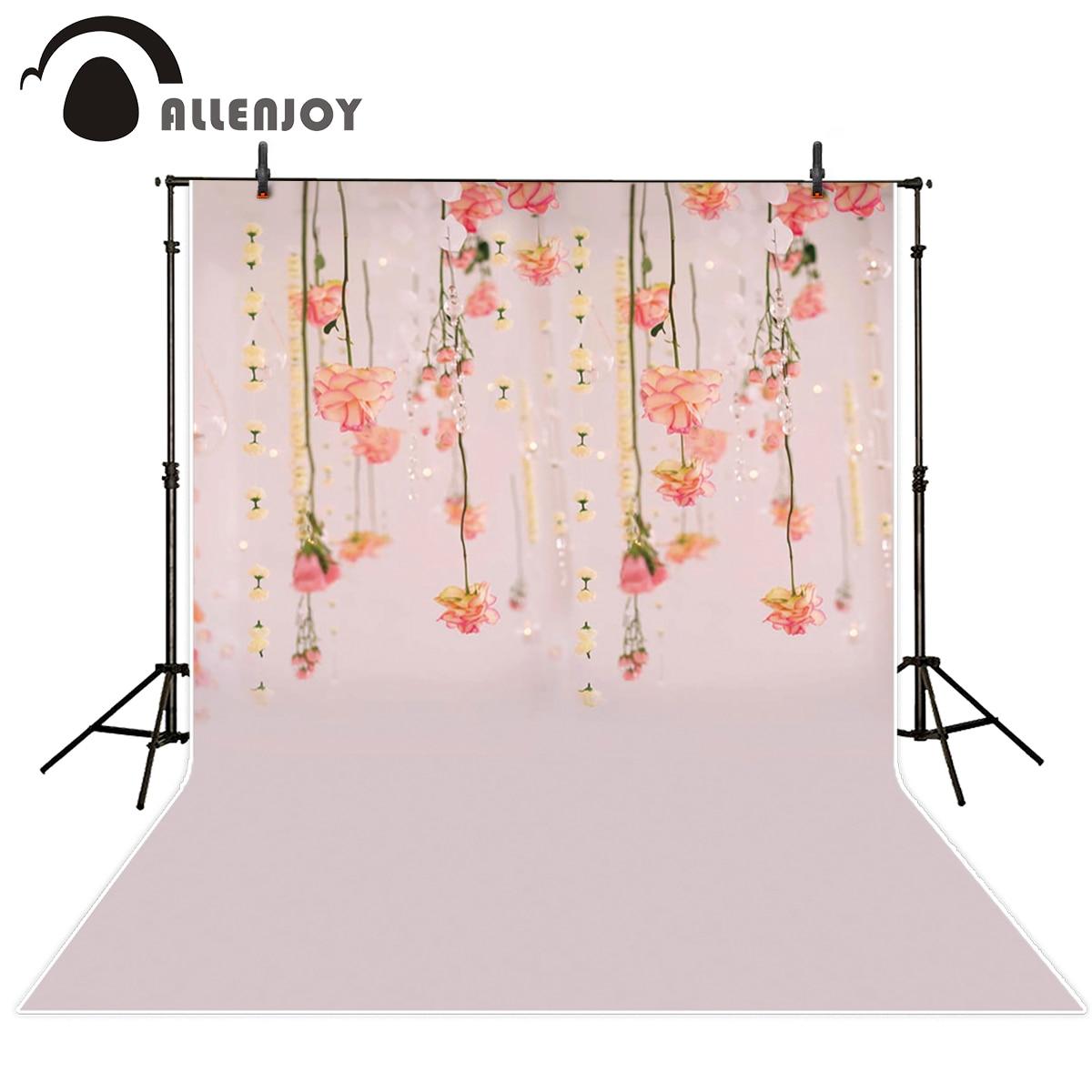 Allenjoy photo backdrop flower wedding love glitter pink background fantasy props for newborn photocall photobooth customize allenjoy backdrop background wonderland