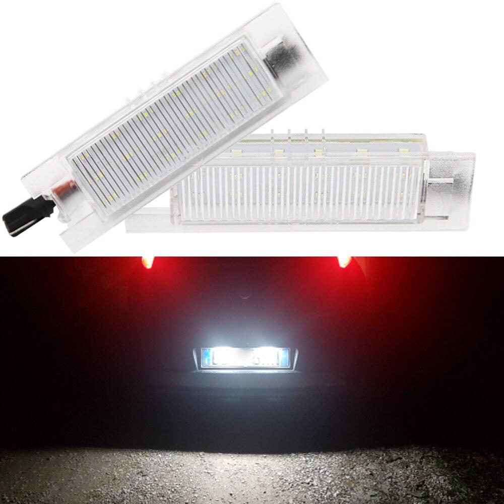Canbus livre de erros branco 18smd led luzes da placa de licença número para fiat tipo doblo 500l punto grande multipla 186 marea 185