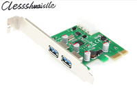 Pci E Pci E Usb 3 0 Post Card Expansion Adapter Add On Cards 2 Ports