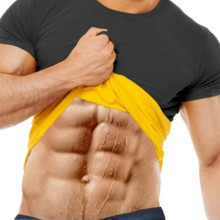 Новинка, натуральная Неопреновая рубашка для похудения, тренировочный Корректор тела, футболка для мужчин, пот, больше жира, сжигание талии, тренировочный тренажер, Корректор тела