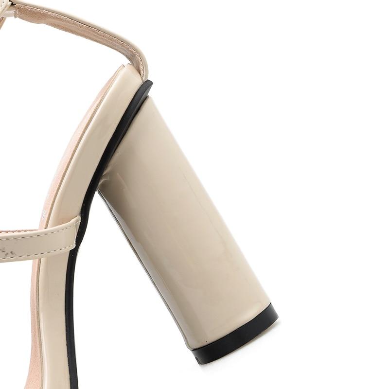 Mujer Verano Tacón Zapatos De Damas Negro Alto Sexy Sandalias Cruz Talón Cm Oficina Punta Hebilla Abierta 10 7qXaI