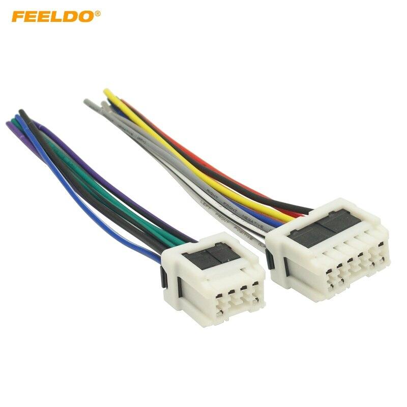 Feeldo 1set Car Stereo Power Wiring Harness Adapter For