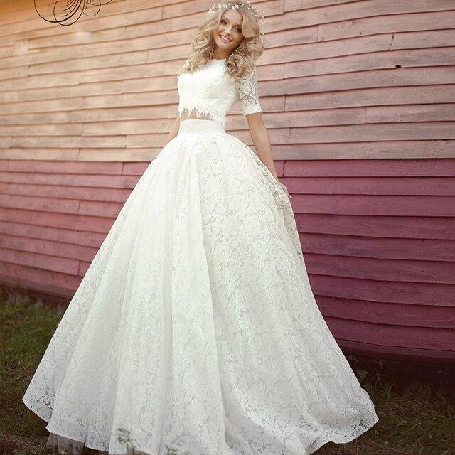 robe de mariage mariee vestido de novia de verano 2017 elegante dos