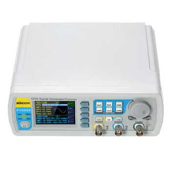 New Upgraded FY6800-60M 60MHZ 2-channel DDS Arbitrary Signal Generator 250MSa/s 8192*14bits100MHz Waveform Frequency meter VCO