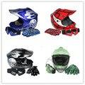 Motorcycle helmet DOT Youth Kids motocross Dirt Bike Helmet Goggles+Gloves S/M/L
