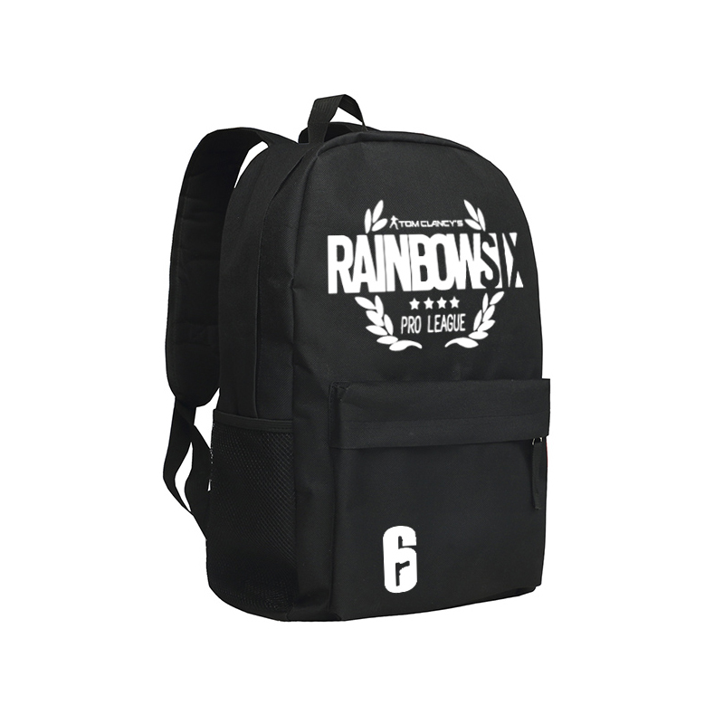 Tom Clancy's Rainbow Six Siege Backpacks Adults Online Game Character Mochila Teenagers Travel Bag Children School Backpack airsoft adults cs field game skeleton warrior skull paintball mask