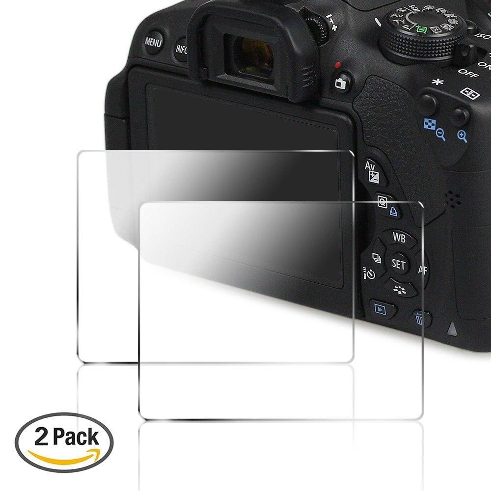 PCTC 2 Packs font b Camera b font Screen Protector for Canon 700D 750D 760D T5i