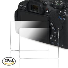PCTC 2 Packs Camera Screen Protector for Canon 700D 750D 760D T5i T6i T6S, Anti-scratch Anti-glare Tempered Glass