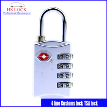 Costumbres candado TSA309 Contraseña de bloqueo civil 4 línea de cerraduras de Equipaje bloqueo antirrobo profesional suministros de cerrajería