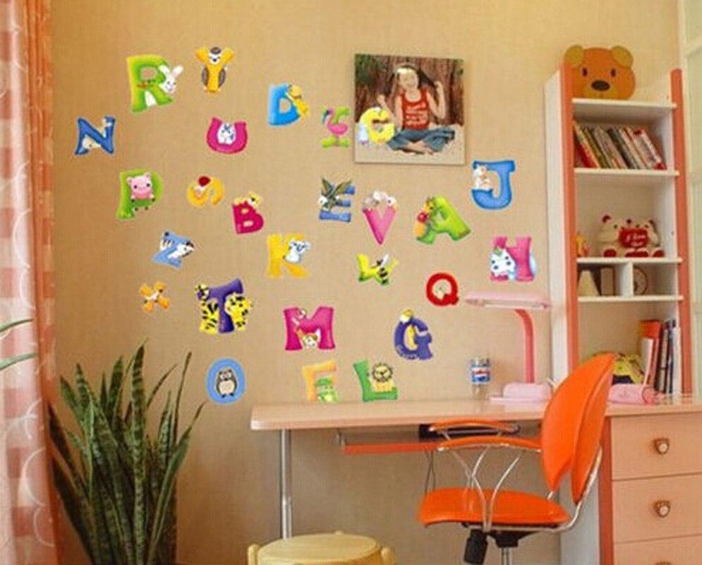 2016 Cartoon Zoo English Alphabet Kid\'s Boys Girls Babies Nursery ...