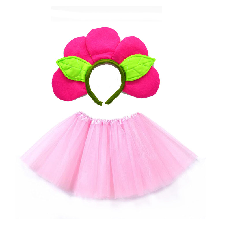 Kids Costumes & Accessories Well-Educated Flower Prince Girl Cosplay Headband Tutu Skirt Set Accessories Kids Children Party Props Halloween Costume Christmas