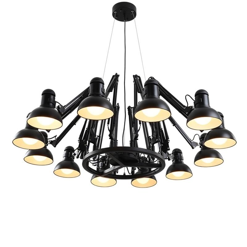 GZMJ Grande Lampe Moderne Lustre Araignée Lustre Éclairage Lampe Foyer Llight Art Nordique De Luxe Classe Loft Design