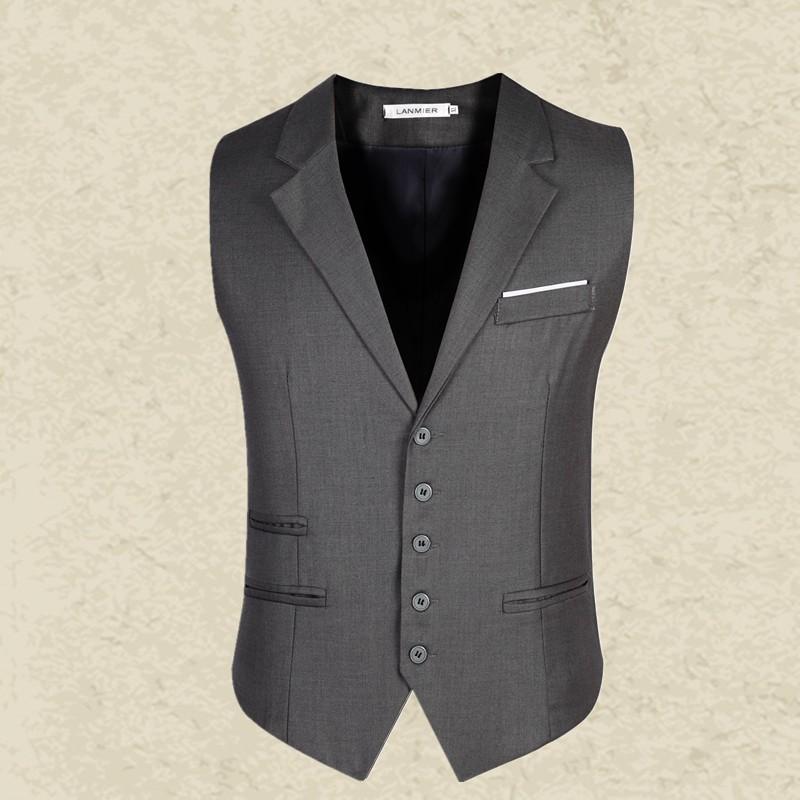 New-Brand-Clothing-Men-Vest-Black-Gray-Blazer-Collar-Sleeveless-Suit-Vests-Classic-Dress-Slim-Fit (1)