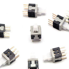 10PCS 5 8x5 8mm 6 Pin DIP Self Lock ON OFF lock Push Switch Power Switch
