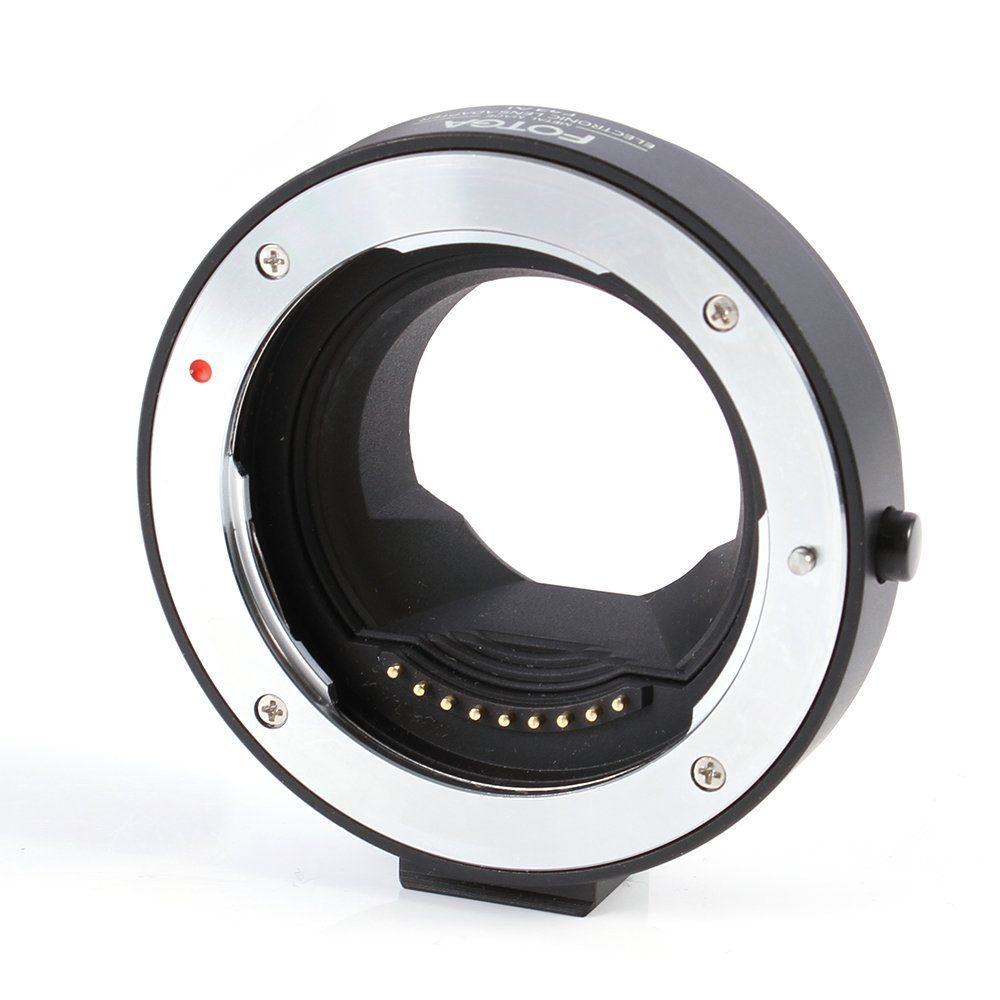 FOTGA ElectronicAF Auto Focus Metal Adapter Ring for Olympus Panasonic 4/3 lens to Micro 4/3 E-P1 E-PL1 G1 GF1 Cameras