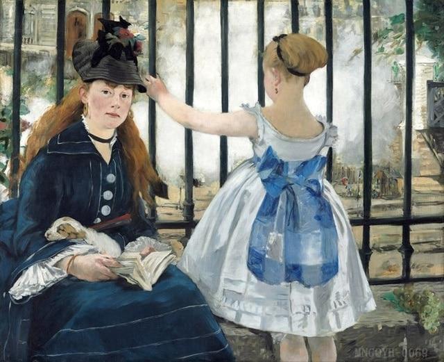 Leinwand Malerei Ideen Realistische Malerei Home Dekoration Moderne  Dezember Edouard Manet Frau HD Druck Gemälde Auf
