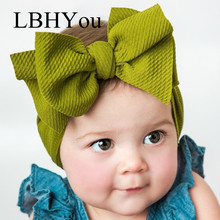 1pcs Big Bow Baby Headwrap, Top Knot Headbands, Adjustable Turban headband Over Size Toddler Girls Hair Accessories