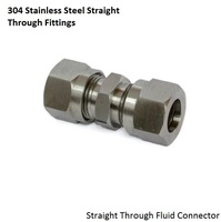 Free Shipping 304 Stainless Steel Fluid Fitting Connector Couplings