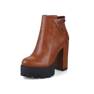 Image 2 - MORAZORA 2020 جديد أحذية أنيقة امرأة جولة تو الخريف الشتاء حذاء من الجلد للنساء مثير منصة حزب أحذية عالية الكعب الأحذية
