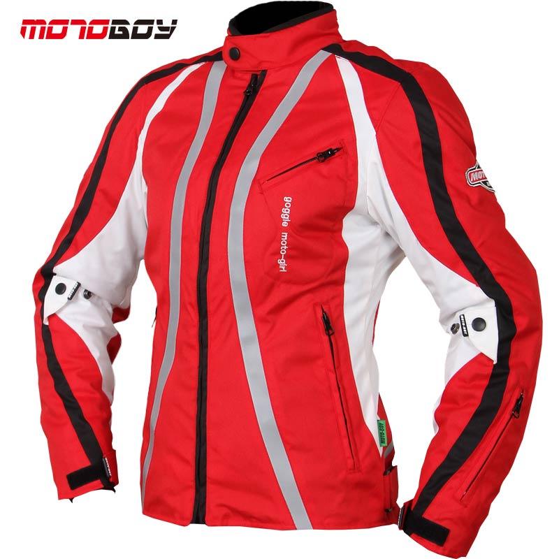 Bleu rouge imperméable à l'eau Durable Moto veste hiver veste femme haute visibilité Motrcycle armure corporelle veste