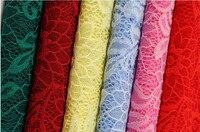 5 yardas 14 colores Telas-floral LICRA encaje Telas para el vestido-60