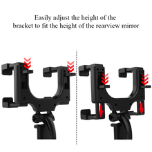 XMXCZKJ Car Phone Holder Car Rearview Mirror Mount Phone Holder 360 Degrees For iPhone Samsung GPS Smartphone Stand Universal