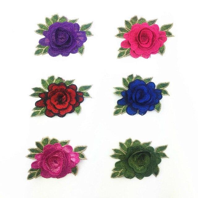 Nuevo Patrón de Color Baño de Agua Bordado Rose FLOR Libro Zapato ...