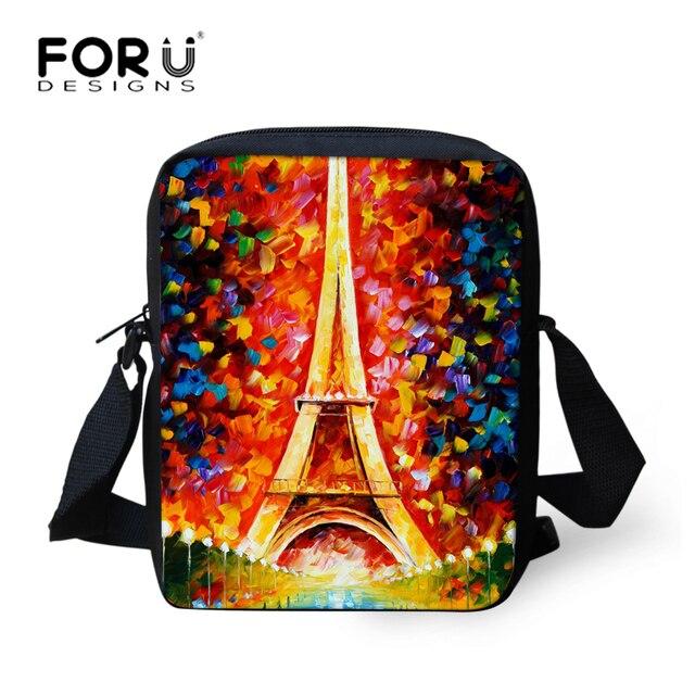 7345b5bb10e2 FORUDESIGNS Eiffel Tower Printing Women Messenger Bags Kids Shoulder Bag  Girls Crossbody Bag Handbag Boys Cross Body Bags Bolsas