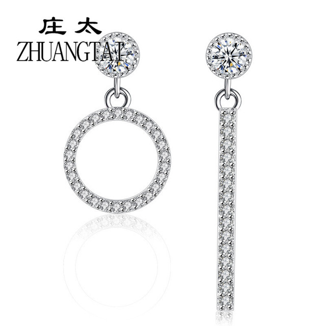 Fashion Korean Earrings for Women Irregular Silver Color Statement Earrings With