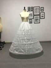 Fmogl 새로운 도착 6 후프 페티코트 underskirt 공 가운 웨딩 드레스 2020 속옷 crinoline 웨딩 액세서리 플러스 크기