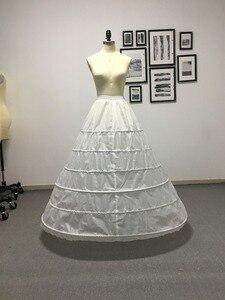 Image 1 - Fmogl Nuovo Arrivo 6 Hoop Petticoat Sottogonna per Abito di Sfera Abito da Sposa 2020 Della Biancheria Intima Crinolina Accessori da Sposa Più Il Formato